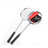 2pcs Carbon Fiber Badminton Racket Racquet with Carry Bag Teenager Adult Contest Training Durable Sports Goods Equipment