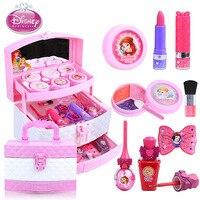 Children's cosmetics toys Disney princess toys makeup box set girl lipstick eye shadow nontoxic nail polish show toy