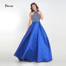 Finove Prom Dress Long 2019 Satin Floor Length Party Dress
