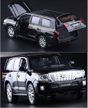Double Horses 1:32 New Land Cruiser alloy car model pull back sound light kids toy SUV original free shipping boy gift(China)