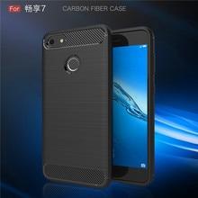 Huawei P9 Lite Mini Case Carbon Fiber Soft Silicone TPU Cover for Huawei P9 Lite Mini Nova Lite 2017 SLA-L02 SLA-L22 SLA L02 L22