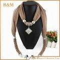 2016 venda quente moda mulheres / senhora de jóias cachecol colar borlas cachecóis