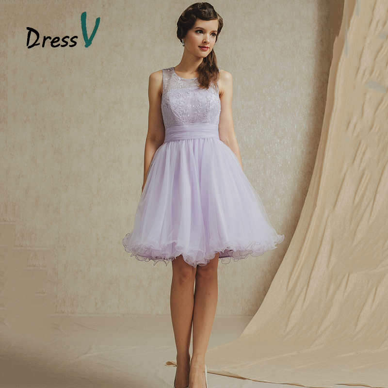 Aliexpress.com : Buy Lavender Tulle Cheap Short Lace Bridesmaid ...