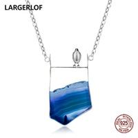 LARGERLOF 925 Silver Pendant Women Chain Necklace 925 Silver Jewelry Handmade Fine Jewelry Necklaces Pendants PD45110
