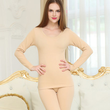 New fashion autumn and winter ladys thicken warming long johns 2 pc suit