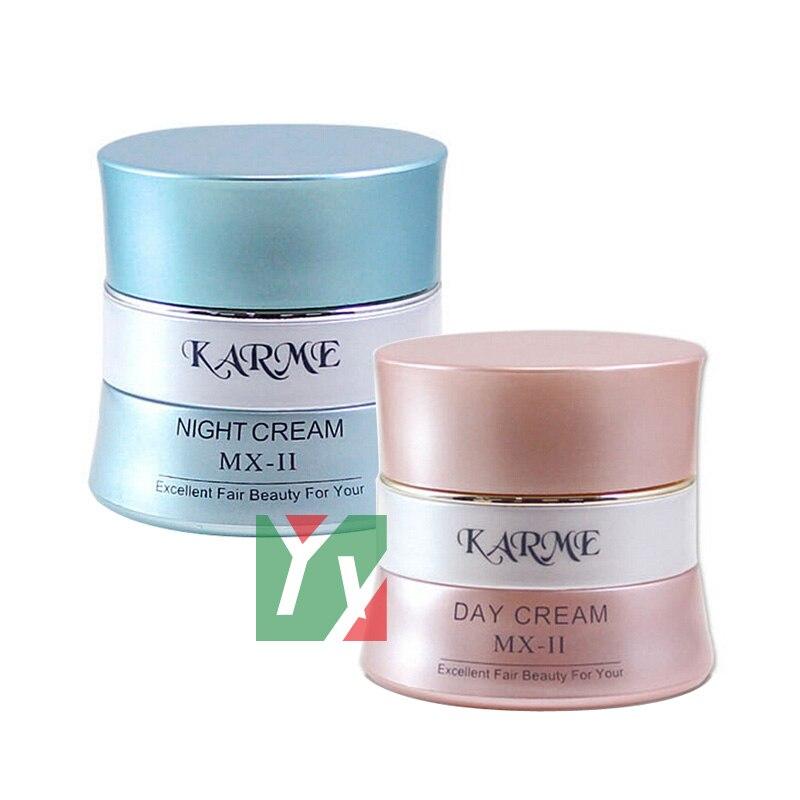KARME Whitening day + night cream skin care anti spot  fade out freckle 2pcs/set  4set/lot