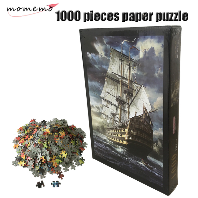 MOMEMO The Sailboat Paper Puzzle 1000 Pieces Adults Paper Puzzle Assembling Puzzles 1000 Pieces Toys Landscape Jigsaw Puzzle