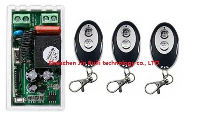 Новый AC220V 1ch Беспроводной Дистанционное управление переключатель Системы 1 * приемник + 3 * форму эллипса передатчики для Приспособления воро...