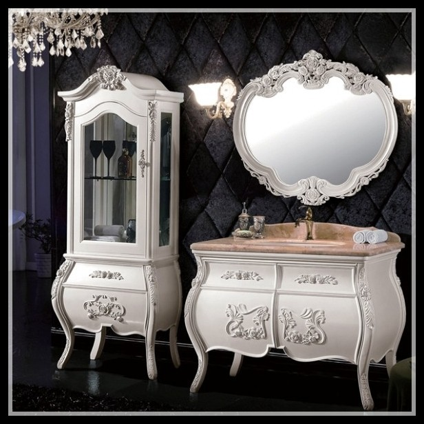 High End Solid Wood European Style Kids Bathroom Furniture French