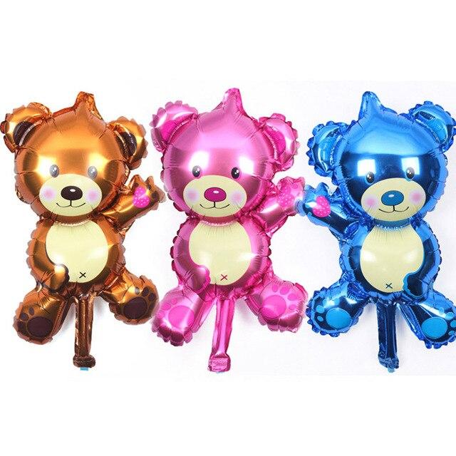 1 pcs Frete Grátis Mini Teddy Bear Desenhos Animados Foil Birthday Party Balloon Decoração Balão Fontes Do Casamento Dia Dos Namorados ballo