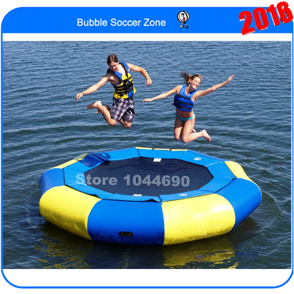 Free shipping Dia 3m inflatable water trampoline float for sale protable water trampoline 3m diameter inflatable water jumping bed water platform inflatable bouncer pool float toy