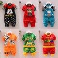 Otoño bebé grils niños unisex traje de la camiseta + pants 2 unids conjunto de algodón de manga larga ropa de los niños niños ropa de deporte
