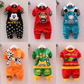 Spring Autumn baby grils boys unisex suit t shirt+pants 2pcs set's cotton long sleeved children garment Sports kids clothing