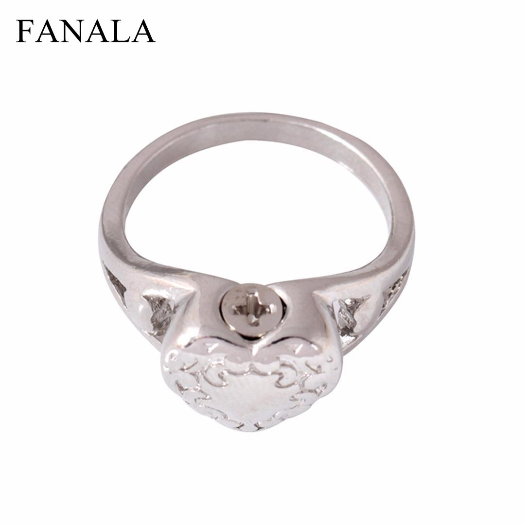 Buy Heart Fashion anillos Shellhard Pet  Memorial Jewelry Finger Rings mujer Chic Statement Urn Love Ring Charming Ash for only 1.09 USD