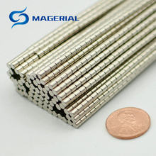 Diâmetro dos pces 200-5000. 3x3mm ímã de jóias ndfeb disco ímã neodímio ímãs permanentes grau n35 nicuni chapeado axialmente magnetizado
