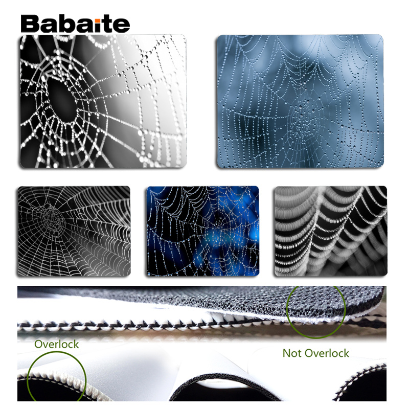 Babaite In Stocked Spider web Laptop Gaming Mice Mousepad Size for 180x220x2mm and 250x290x2mm Small Mousepad