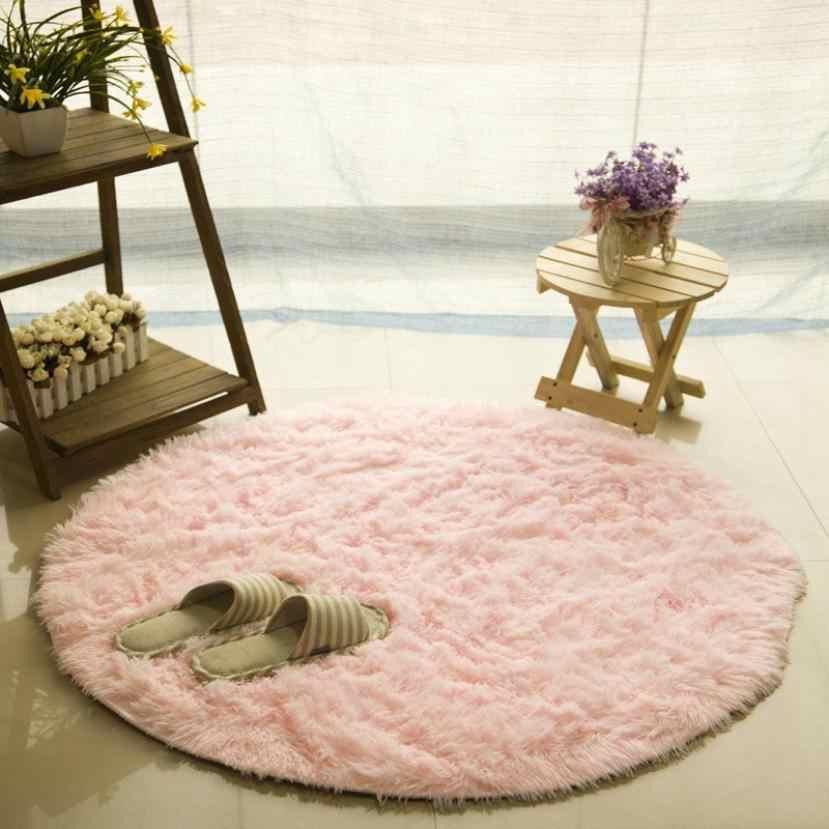 Новый горячий мягкий коврик для ванной, спальни, пола, душа, круглый коврик, Нескользящие аксессуары для украшения дома, кухонные аксессуары, Прямая поставка