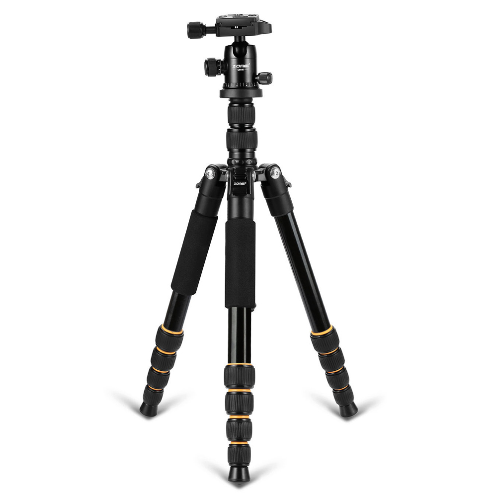 Zomei Q666 Lightweight Portable Camera Tripod Travel Camera Tripod Monopod Aluminum Ball ...