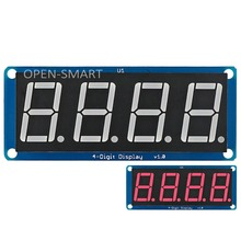 0.56″ Red LED 4-Digit Display Module 4 bits digital tube led display with Decimal Point for Arduino / RPi / AVR / ARM