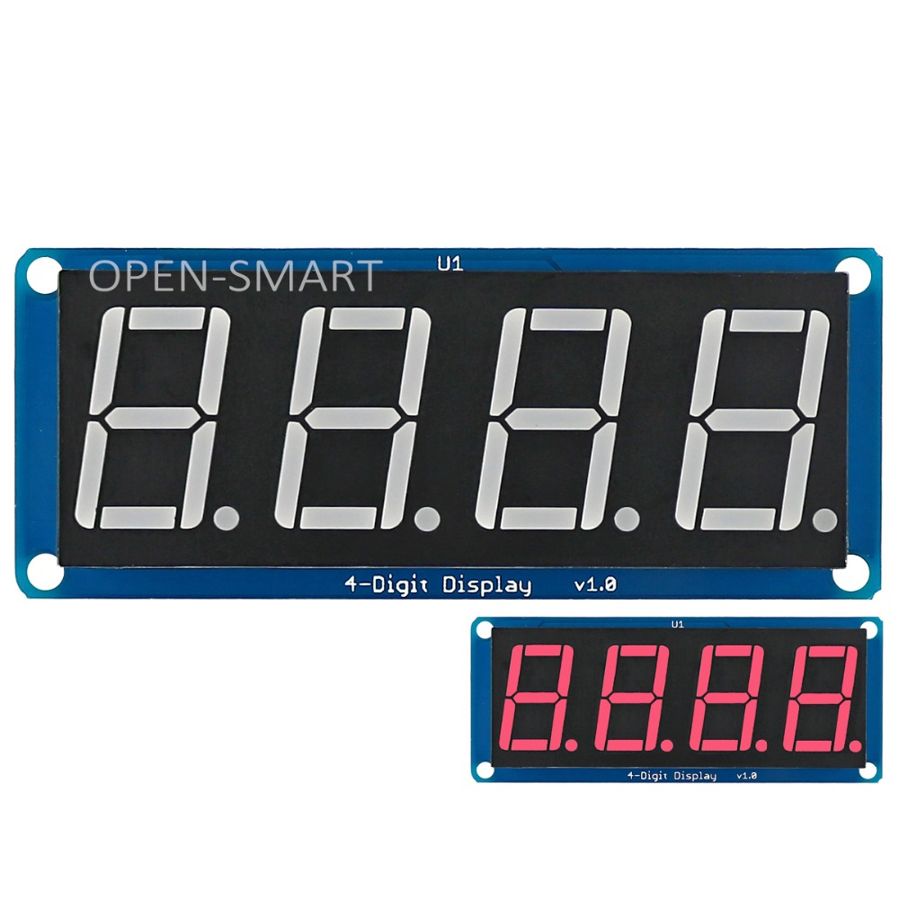 0.56 Red LED 4-Digit Display Module 4 bits digital tube led display with Decimal Point for Arduino / RPi / AVR / ARM