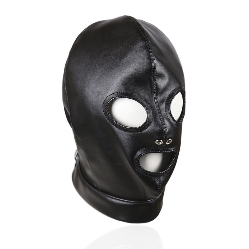 Toys Adult GamesFetish Hood Headgear PU Leather BDSM Bondage Breathable Sex Mask Hood Sex Product For Couples Intimate Goods