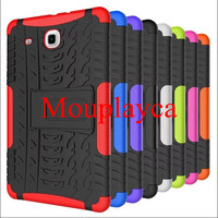 Heavy Duty Armor Hybrid Rugged Rubber Silicone Stand Phone Case For Samsung Tab T560 Cases Hard