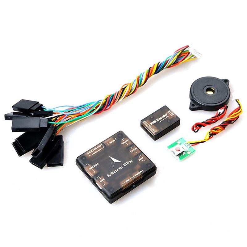 Tarot New Mini Micro Pix 32Bit Pixhawk 2.4.6 PX4 Flight Controller Buzzer Unlock Switch for DIY FPV RC Drone Multicopter f16949 micro pix 32 bit arm flight controller pxi px4 pix 2 4 6 upgraded mini board for diy fpv rc drone multicopter quadcopter