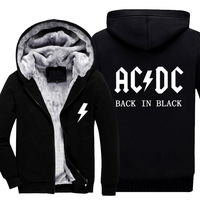 2017 New Fashion Autumn Men Hoodies Sweatshirts Ac Dc Fleece Warm Casual Long Sleeve Hoodie Hoody