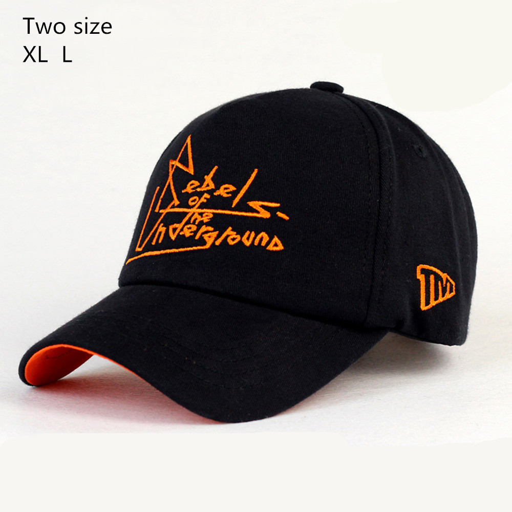 Prix pour LGFD60 unisexe hommes et femmes noir coton baseball caps spécial big plus taille snapback chapeau de soleil
