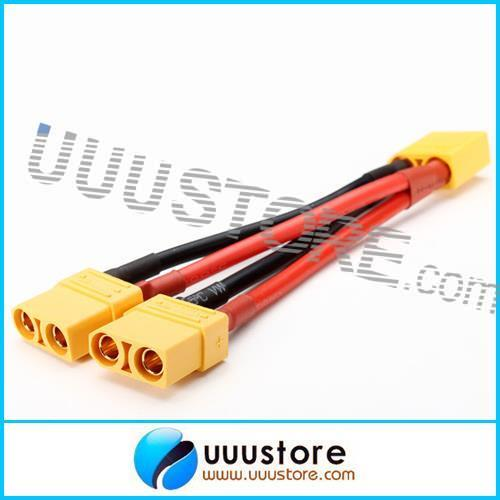 AMASS XT90 Plug 14AWG Male Female Parallel Connection Cable