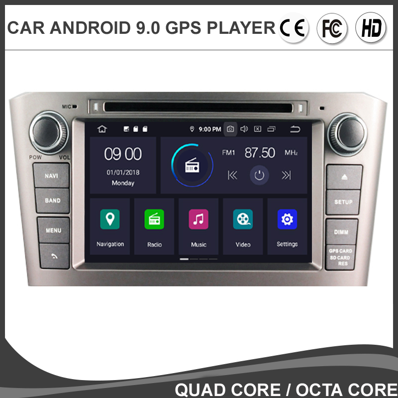 7'' <font><b>Android</b></font> 9.0 Octa Core Car DVD GPS Player For <font><b>TOYOTA</b></font> AVENSIS <font><b>T25</b></font> 2003-2008 Multimedia Radio NAVIGATION BT WIFI/4G Map TPMS SD image