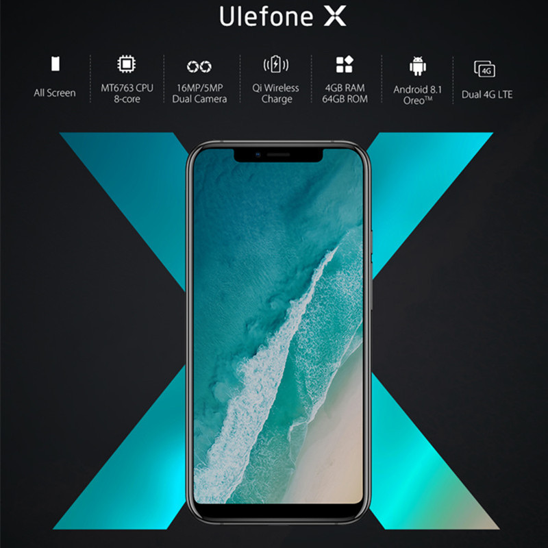 Original Ulefone X Android 8.1 Cell Phone 5.85
