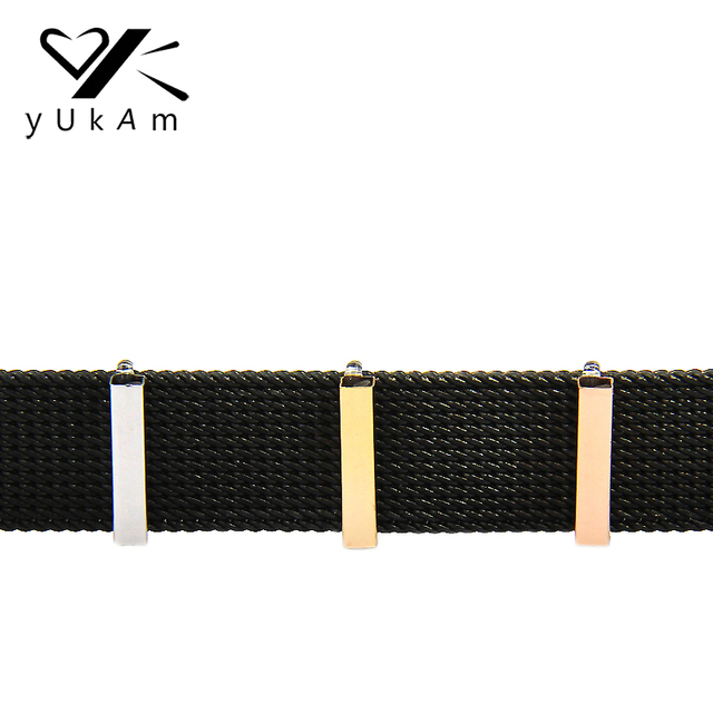 YUKAM Jewelry Sliders Keys Rubber Stoppers Ring Slide Charms Keeper for Stainless Steel Mesh Keeper Bracelets Accessories Making