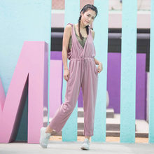fbf2f725828c2 Hollow Out Twist Back Modal Yoga Set Women Loose Gym Clothing Playsuit  Drawstring Waist Running Workout Rompers Womens Jumpsuit