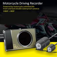 3'' Dual Camera Motorcycle Recorder Locomotive Recorder With Front 1280P*720P Rear View Camera Motorbike Driving Recorder