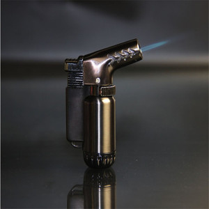 Image 3 - Compatto Butano Getto Più Leggero Torcia Turbo Accendino Fisso Fuoco Pistola A Spruzzo Portatile Più Leggero del Metallo Antivento 1300 C No Gas