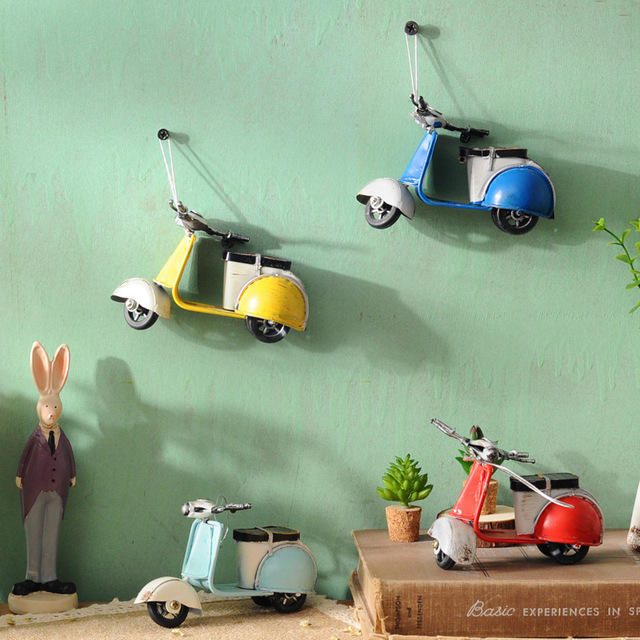 VILEAD American Little Sheep Iron Motor Figurines Vintage Home Decor Motorcycle Roman Holiday Souvenirs Christmas Decoration 2