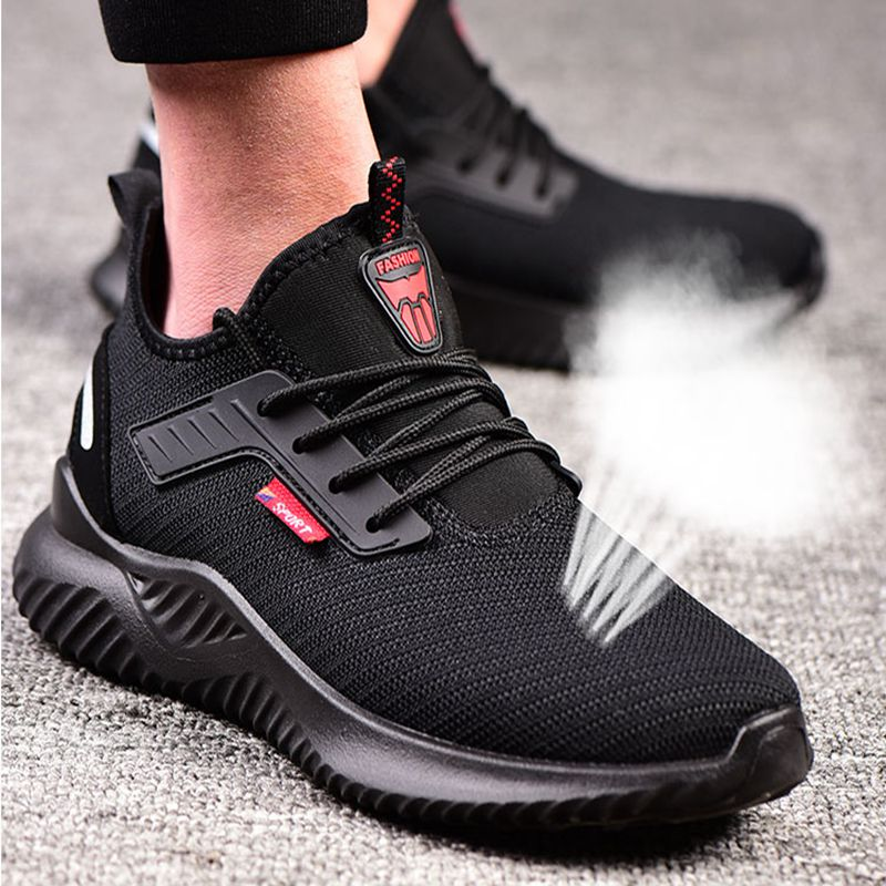 Mans Steel Toe Cap Lightweight Work Safety Shoes Woman Breathable Trainers Boots