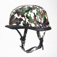 Motorcycle Accessories German Harley Open Face Half Leather Helmet Harley Moto Vintage Motorcycle Motorbike Vespa Camouflage