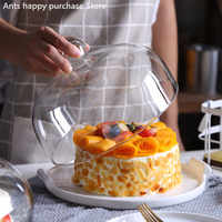 セラミックケーキプレートガラスカバーデザートパンフルーツデザートトレイ店しよう皿ディスプレイスタンド収納トレイと蓋