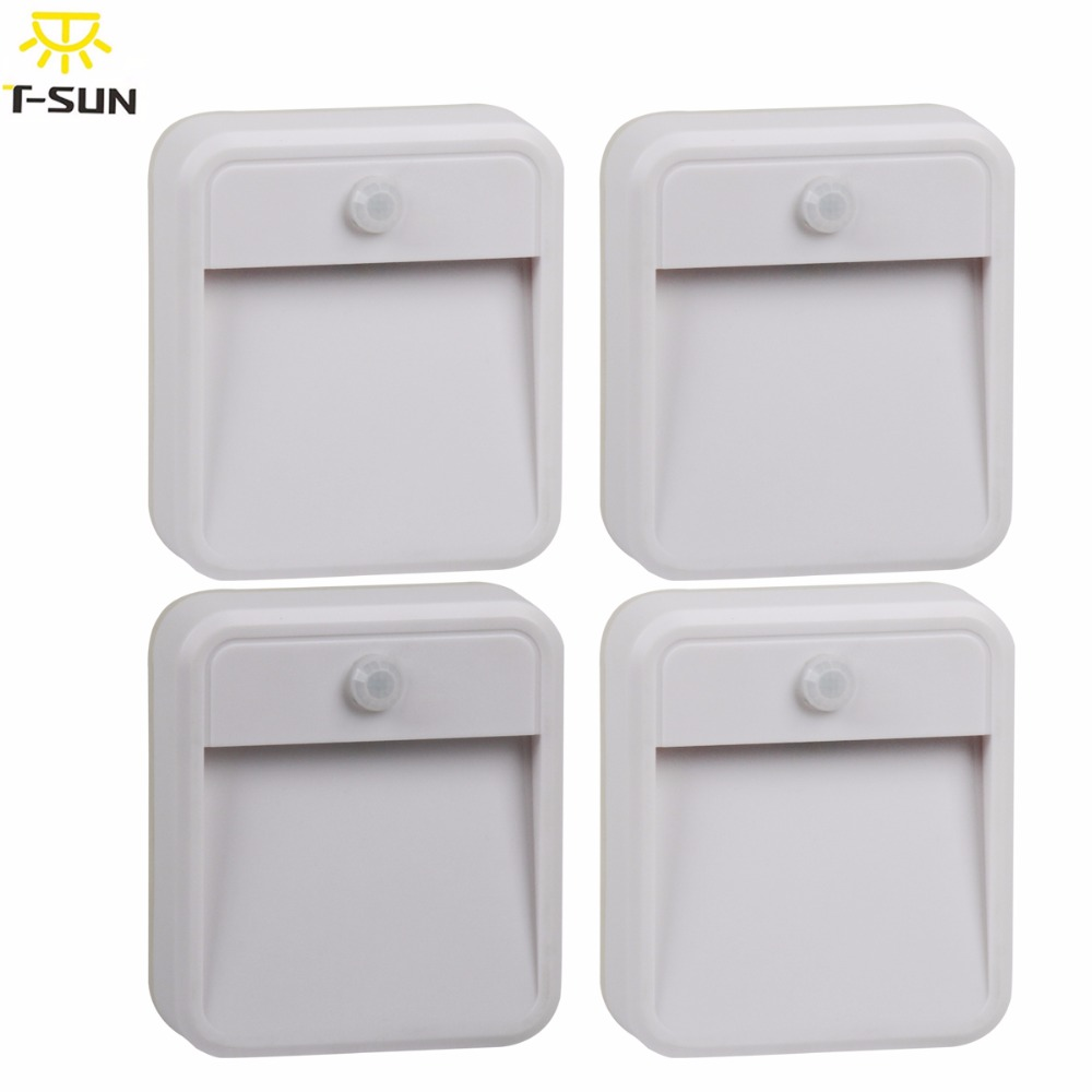4PCS PACK LED Night Light Wireless Wall Lamp Lights With Motion Sensor LED  Sensor Lighting Fixtures
