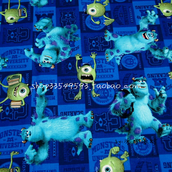 Popular cotton monster buy cheap cotton monster lots from for Baby monster fabric
