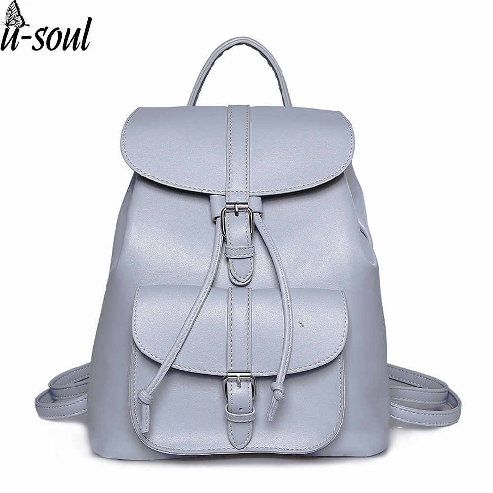 e980a8556e0c Женщины Рюкзак Винтажные кожаные рюкзаки женские дорожные рюкзаки Дамы  Сумка для школьные сумки A1842
