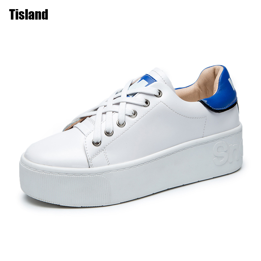 2017 Spring Summer Round Toe Casual Flats Platform Oxford Real Leather Shoes For Women White Shoes Sapato Feminino Size 35-40 concise lofers for women spring women flats elastic band round toe flats size 34 43 flat sole platform shoes 2016 women shoes