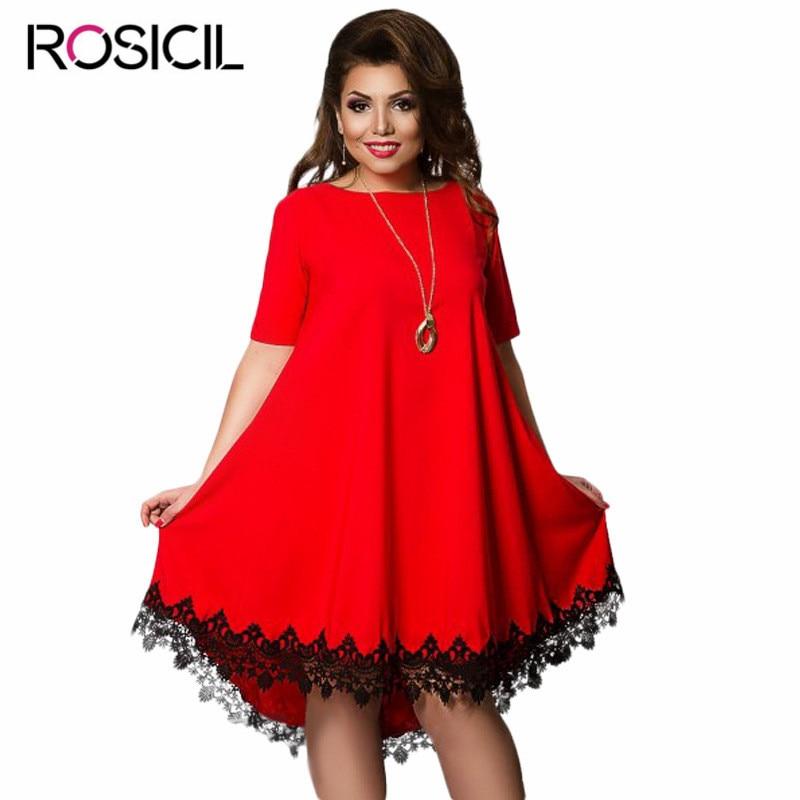 New Arrival ROSICIL Brand Plus Size Women Elegant Office Dresses Loose Big Size Bodycon Dress 6XL