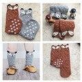 Chaussette Haute Enfant miúdos bonitos meias raposa inverno quente Totoro meias desenhos animados urso primavera meninas na altura do joelho meias bebê meias longas