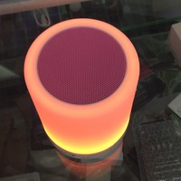 Portable Dimmable RGB Color LED Night Light with Bluetooth and Smart Phone APP Control SD card Music Player Speaker Rechargable