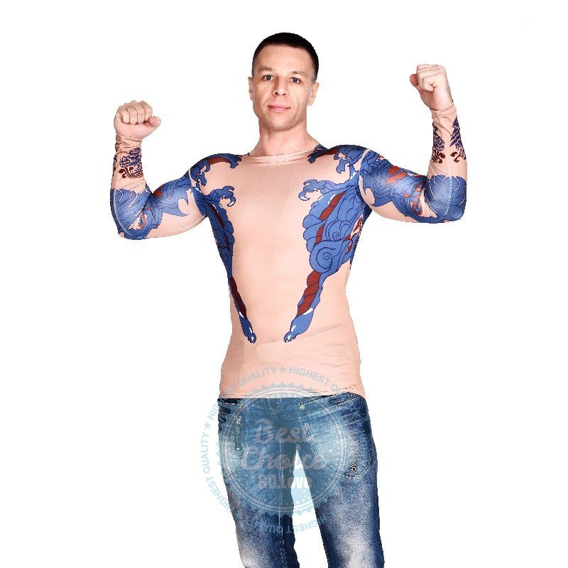 2015 new imitation tattoo top hunk man hunk halloween costume chinese dragon tattoo clothes on aliexpresscom alibaba group