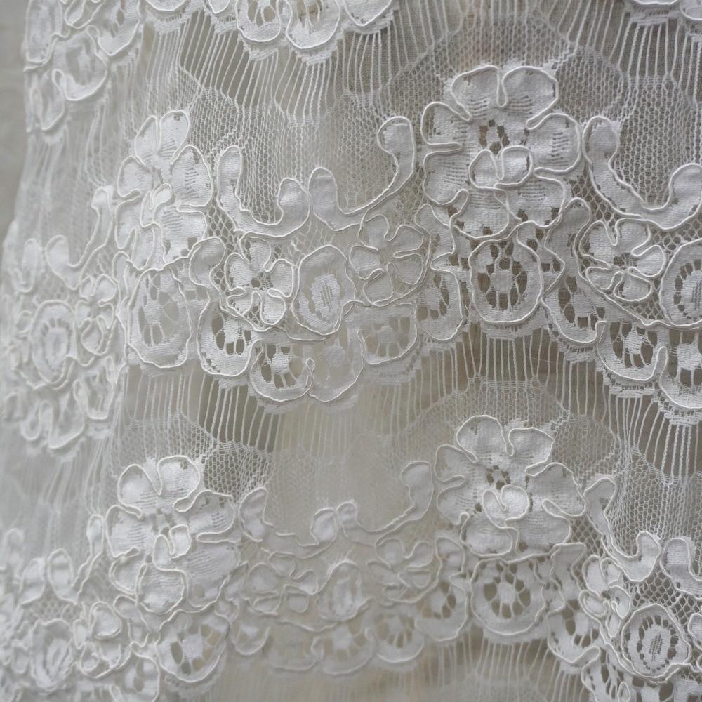 300 CM large cils cordage dentelle tissu blanc cassé, noir en stock 1 Yard prix pétoncle guipure dentelle tissu couture pour robes bricolage