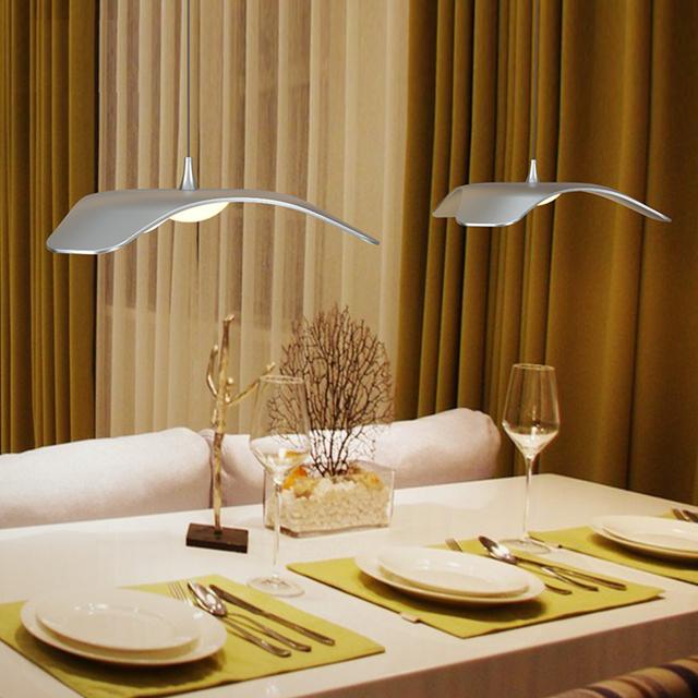 Modern LED dining room living room aluminum pendant lights led pendant fixture lamp 10W red / gold / gray